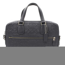 Coach Hudson 5 Signature Leather Midnight/Silver Man's Bag 54932 - $199.00