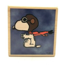 An item in the Crafts category: 2001 Snoopy WWI Flying Ace Rubber Stamp Stampabilities Hard To Find