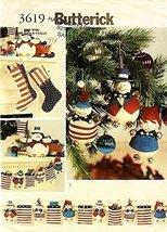 OOP Butterick Sewing Pattern 3619. Americana Christmas: Mantel Garland &... - $13.23