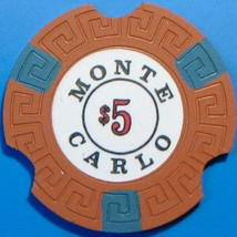 $5 NCV Casino Chip. Monte Carlo, Reno, NV. Notched. T58. - $5.99