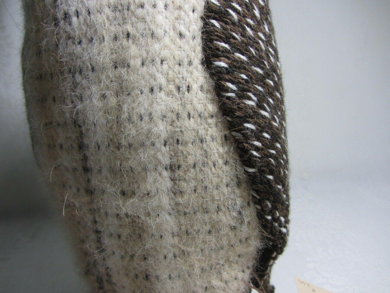 Hawaiian Pueo Owl Sculpture Figurine Handwoven Fabric Yarn Fiber Art Spitz-Nagel image 8