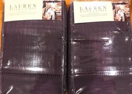 RALPH LAUREN SURREY GARDEN HEMSTITCH PURPLE EURO SHAMS (SET OF 2)-NEW IN... - $129.99