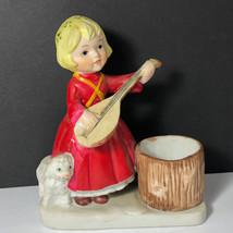 1980 VERONA VERGASI PORCELAIN FIGURINE vintage candleholder statue mando... - $24.75