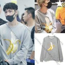 Kpop EXO Lay Sweater Winner Jin Woo Tae Hyun Sweatershirt Airport Fashio... - $9.87