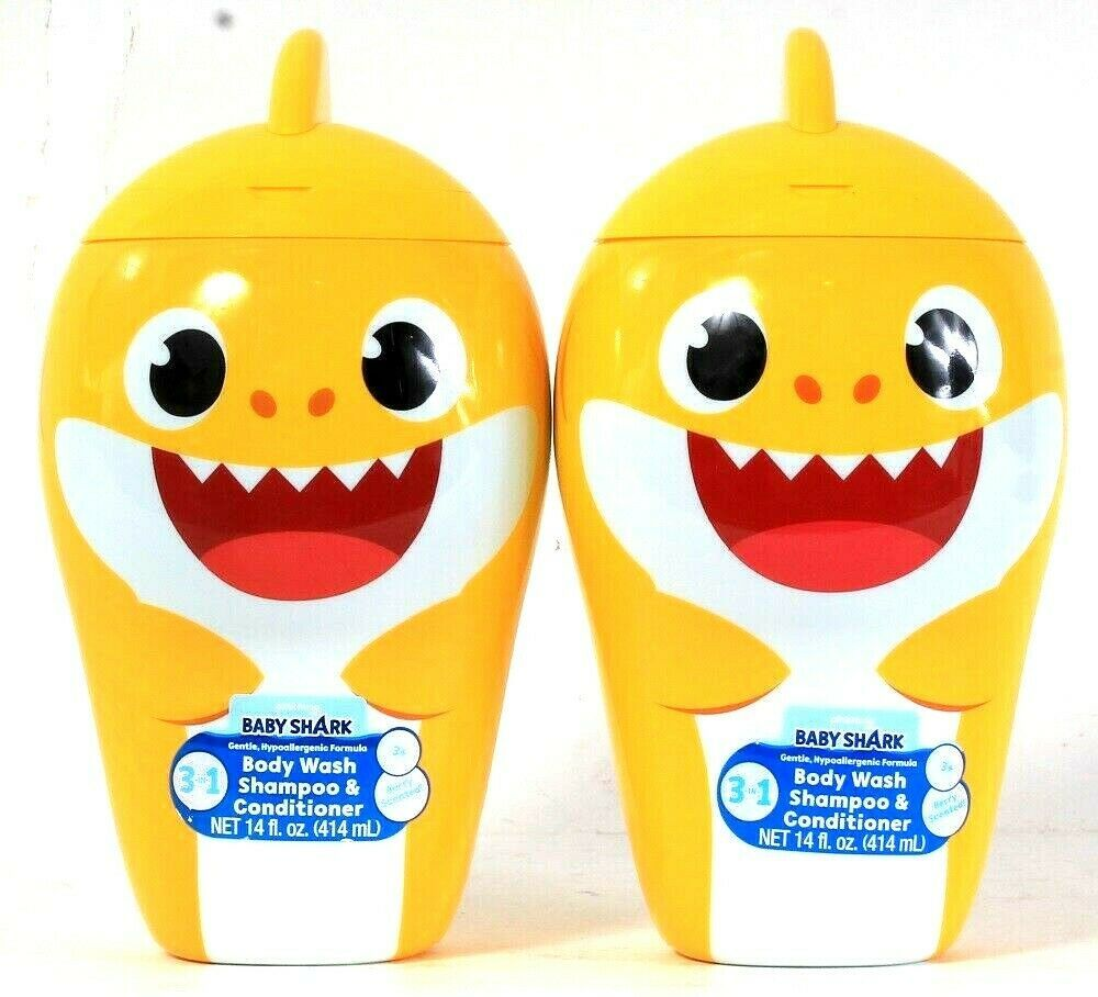 Primary image for 2 Centric Beauty 14 Oz Pinkfong Baby Shark 3in1 Body Wash Shampoo Conditioner