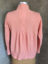 Womens Soft Cotton Blend Rib Sweater Anthropologie Angel Of The North Peach Xsp - $72.46