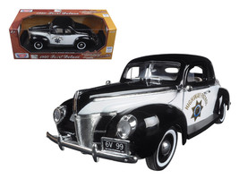 "1940 Ford Coupe Deluxe California Highway Patrol CHP ""Timeless Classics\"" 1/18  - $54.58"
