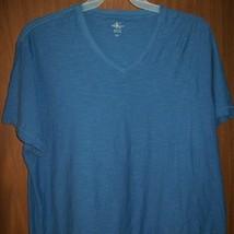 Men's Calvin Klein Ck V-NECK T-SHIRT Size 2XL Blue - $11.12