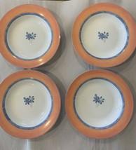 """Set (4) Studio Nova Paradise Pattern Rimmed Soup Bowls Petite Bone China 9"""" - $20.79"""