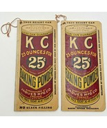 Vintage KC K C Baking Powder Advertisement Notebook Lot Of 2 Jaques Mfg Co. 1386 - $12.30