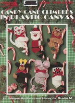 """Leisure Arts """"Candy Cane Climbers In Plastic Canvas"""" 12 Designs - Gently Used - $5.50"""