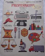 Leisure Arts Leaflet 418 Professions Mini Series #3 By Carol Krob 1986 - $2.99