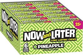 Now & Later Original Taffy Chews Candy, Pineapple, 0.93 Ounce Bar, Pack ... - $12.94
