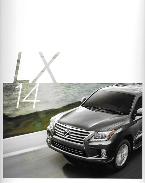 Primary image for 2014 Lexus LX 570 sales brochure catalog 14 US Land Cruiser