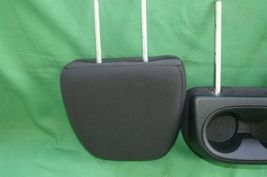 11-15 Dodge Journey 2nd Row Black Cloth 3 Headrests Headrest w/ Cupholder image 10