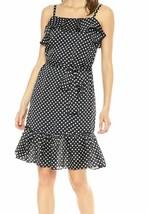 Betsey Johnson NEW Blue Polka Dot Ruffled Sheath Dress $128 - $27.72