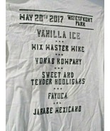 2017 San Diego Taco Fest Concert T-Shirt Med - Vanilla ice Mix Master Mike  - $14.84