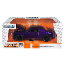 2015 Dodge Challenger SRT Hellcat Purple with Black Stripes Big Time Mus... - $38.64