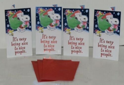 Hallmark XMH 183 1 Snoopy Santa Christmas Gift Card Holder Package 4