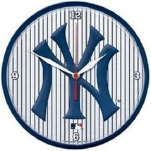 """New York Yankees 12 """" Round Chrome Wall Clock by WinCraft - $36.99"""
