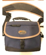 LOWEPRO NOVA 1 NAVY BLUE GADGET BAG ABOUT 7 X 4 X 6 INCHES INSIDE - $19.80