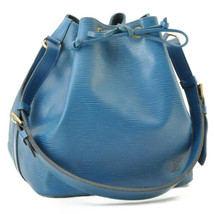 LOUIS VUITTON Epi Petit Noe Shoulder Bag Blue M44105 LV Auth 9436 - $320.00