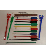 Vintage Freeport IL Swizzle Sticks Esquire Germania Club Jonnys Place Fl... - $9.95