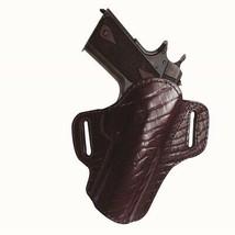 Tagua Premium Open Top Belt Holster Colt 1911 - 3in Burgundy - $54.42