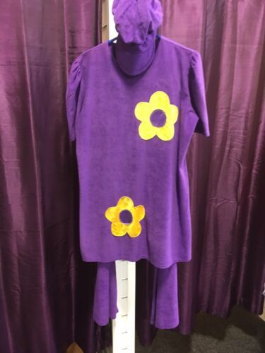 60's / 70's Flower Power Hippy Costume - Purple 20/22