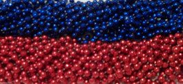 48 Texans Red Blue Mardi Gras Beads Football Party Tailgate NFL Patriots... - €12,83 EUR