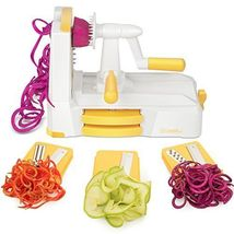 Zestkit Tri-Blade Spiralizer Vegetable Slicer Strongest-and-Heaviest Dut... - $60.00