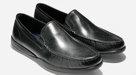 COLE HAAN Lovell Two-Gore Men's Black Leather Loafer Size 9.5, C25642 - $89.99