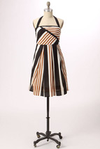 Moulinette Soeurs Anthropologie Edges & Angles Striped Halter Dress 12 - $85.49