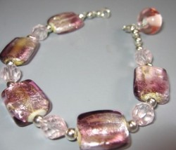 "Unique ""In The Pink"" Handcrafted Bracelet Brand NEW! - $30.00"
