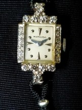 Hamilton vintage ladies 14k gold With 22 Diamonds watch - $2,475.00
