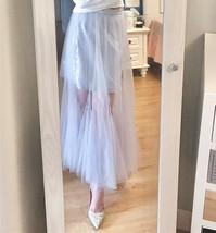Women Blush Pink Tulle Maxi Skirt Blush Pink Sequin Tutu Mermaid Skirt Plus Size image 3