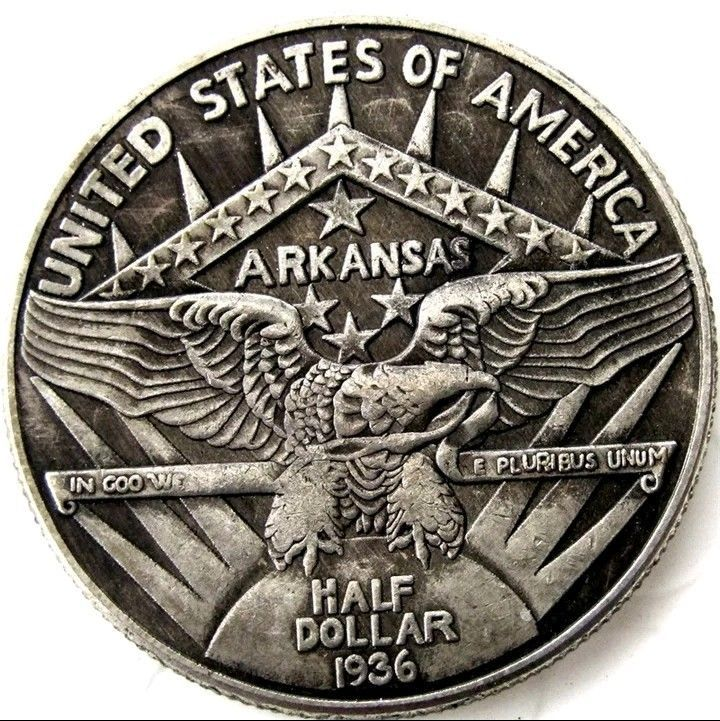 Primary image for 1936 Arkansas Centennial Robinson  Commemorative Half Dollar Casted Coin