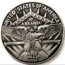 1936 Arkansas Centennial Robinson  Commemorative Half Dollar Casted Coin - $11.99