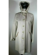 LAUREN Ralph Lauren Single Breasted Rain Coat with Faux Leather Trim, Si... - $21.24