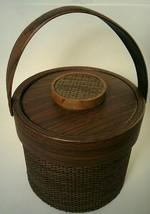 ELMAR Manufacturing USA Vintage Brown Wicker Ice Bucket - $28.71