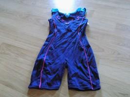 Size Medium 8-10 Jacques Moret Dance Gymnastics Unitard Leotard Navy But... - $17.00