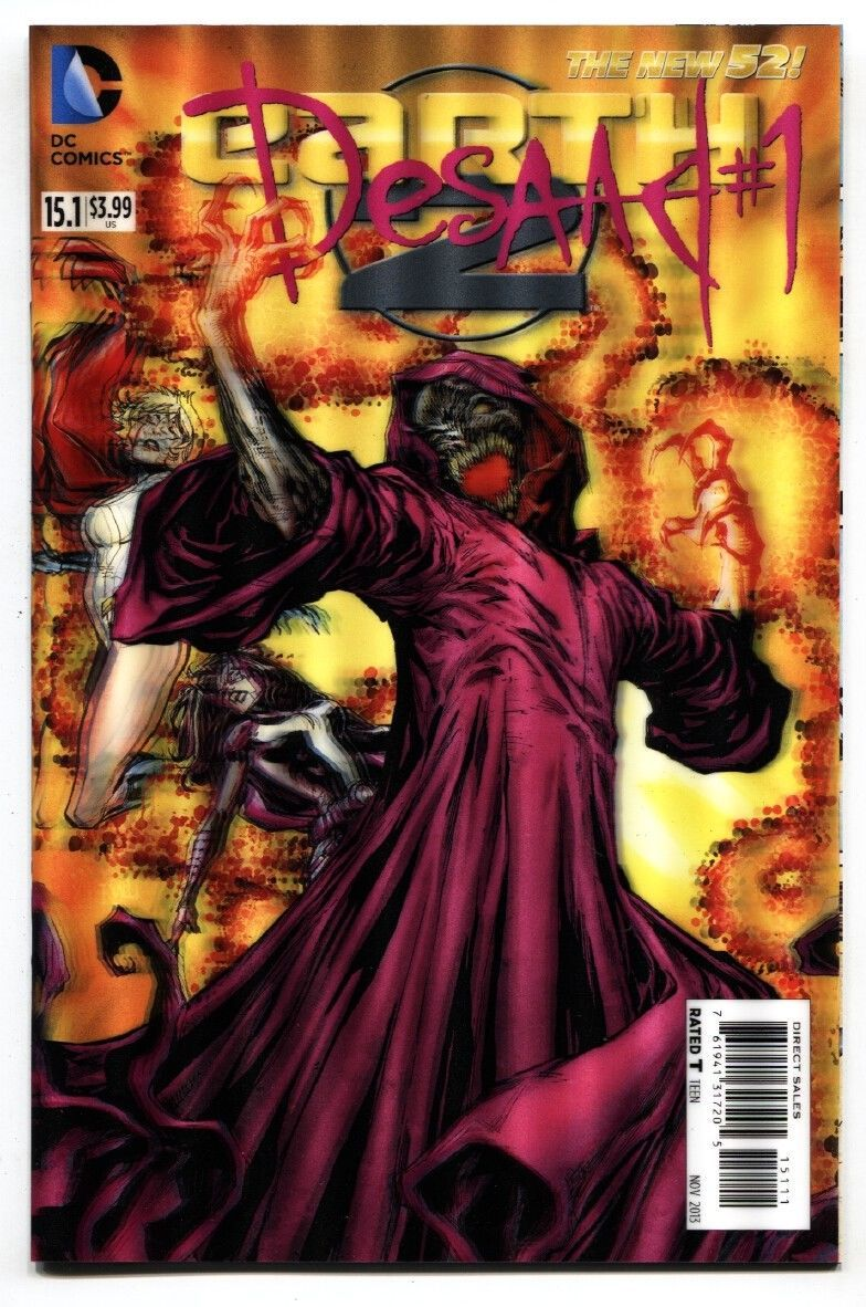 Earth 2-#15.1-Desaad-#1-3-D Variant-New 52-NM