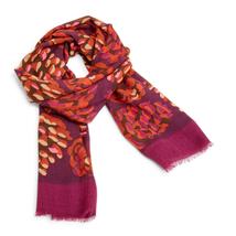 Vera Bradley Soft Wool Scarf in Rosewood Pinecones - $20.88