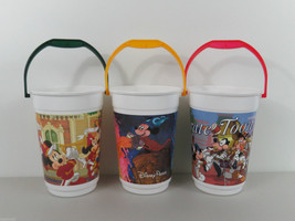 "Vintage Disney Popcorn Buckets Collection Fantasia Tune Toons Marching Band 8"" - $44.55"