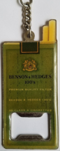 Benson & Hedges Metal Beer Bottle Opener & Keychain, vintage, used - $4.95