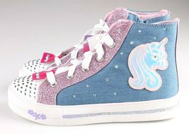 S Sport by Skechers Big Girls Pink Unicorn Raelynn Light-Up HiTop Shoes Sneakers image 3