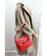 New Authentic Hermes 2015 Clemence Leather Rouge Tomate Lindy 26 Bag - $5,599.99