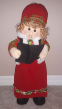 """21"""" Christmas Doll Standing Singing/Carolling (pretend) Table Top Holida... - $10.88"""