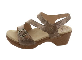 Dansko Asymmetrical Adjustable Sandals Shari Gold 39=8.5-9USM NEW A304712 - $95.02