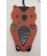 Terra Cotta Glazed Owl Ornament - $7.92